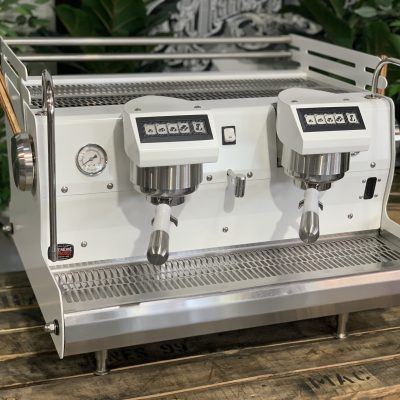 Synesso Sabre 2 Group - White , Timber LeversIMG_0527 Espresso Coffee Machine Coffee Machine Warehouse 1858 Princes Highway Clayton VIC 3168
