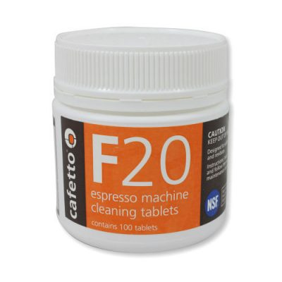 F20 Cafetto Chemical Cleaner Coffee Machine Warehouse 1858 Princes Highway Clayton VIC 3168F20TABS100