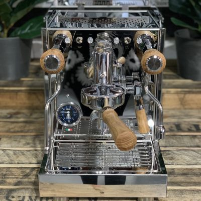 Quick Mill QM67 1 Group Brand New - Stainless Steel , Timber Handles Espresso Coffee Machine Warehouse 1858 Princes Highway , Clayton 3168 VICIMG_2729