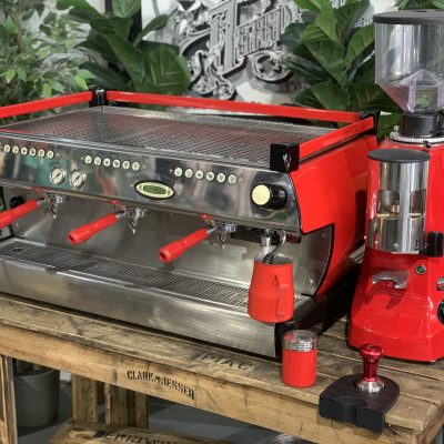 La Marzocco GB5 3 Group Red Robur Automatic Package Coffee Machine Warehouse 1858 Princes Highway , Clayton 3168 VICIMG_9556